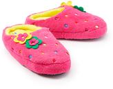 Laura Ashley Pink & Yellow Polka Dot Flower Slipper