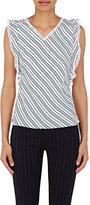 Balenciaga Women's Star Jacquard & Striped Frilly Top