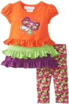 Bonnie Baby Baby-Girls Newborn Butterfly Multi Tiered Legging Set