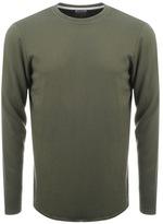 Edwin Long Sleeve Terry T Shirt Green