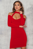 Nookie Girl Talk Off Shoulder Mini Dress