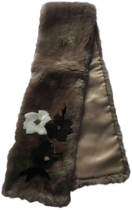 Max Mara Camel Rabbit Scarves