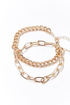 Forever 21 Chunky Chain Bracelet Set