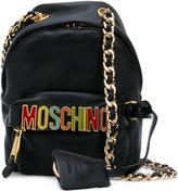 Moschino logo plaque crossbody bag - women - Leather/metal - One Size