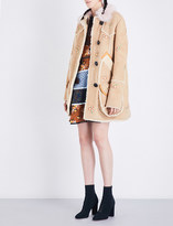 Coach Drifter floral-embroidered shearling coat