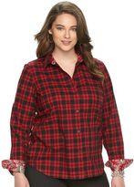 Chaps Plus Size No-Iron Shirt
