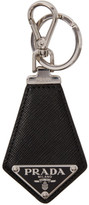 Prada Black Small Leather Keychain