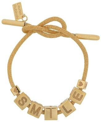 LAUREN RUBINSKI 14kt yellow gold Smile bracelet