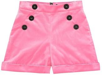 Balmain Kids Velvet shorts