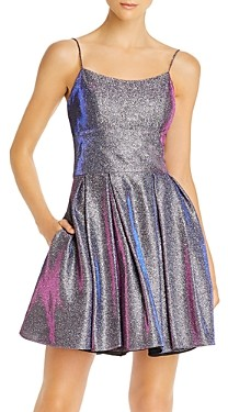 Avery G Galaxy Glitter Cocktail Dress