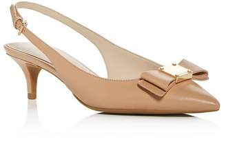 Cole Haan Women's Tali Bow Slingback Kitten-Heel Pumps