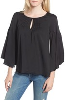 Hinge Women's Satin Bell Sleeve Top