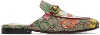 Gucci Multicolor GG Flora Princetown Slippers