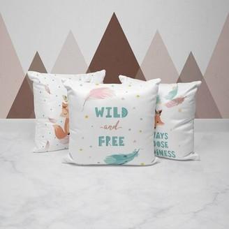 Harriet Bee Caldanagh Boho Foxy Cotton 3 Piece Throw Pillow Set