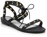 Melissa Studded Lace-Up Plastic Sandals