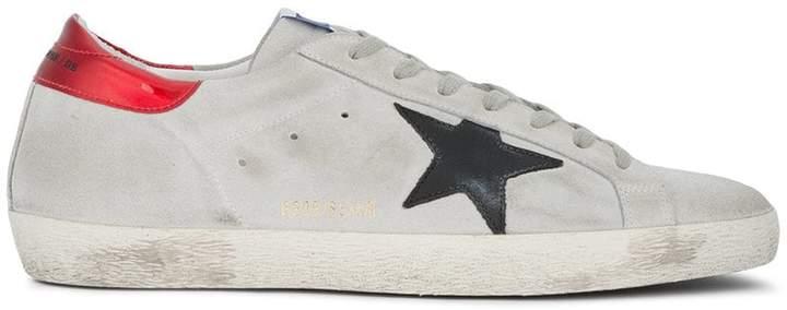 Golden Goose Grey Red Superstar sneakers