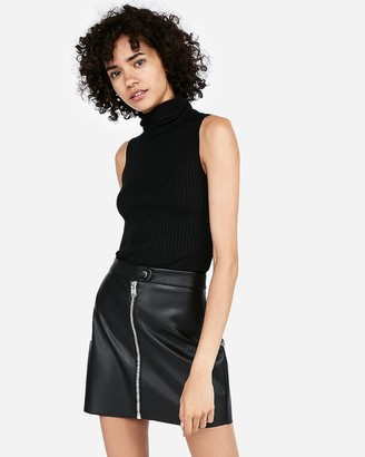 Express Sleeveless Turtleneck Sweater