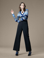 Diane von Furstenberg High-Waisted Wide-Leg Pant
