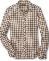 Cotton Plaid Ruffle Shirt