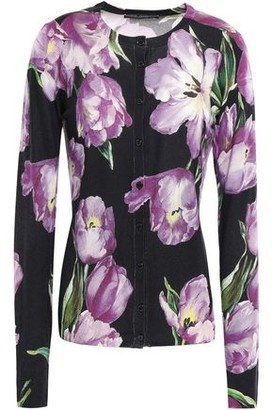 Dolce & Gabbana Floral-print Cashmere And Silk-blend Cardigan
