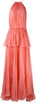 Maria Lucia Hohan tiered panel gown - women - Silk/Nylon/Spandex/Elastane - 38