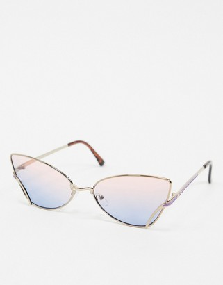 A. J. Morgan AJ Morgan cat eye sunglasses in rose gold