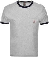 Franklin & Marshall Franklin Marshall Ringer Pocket T Shirt Grey