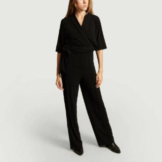 By Malene Birger Black Polyester Zhou Jumpsuit - polyester   black   xs - Black/Black