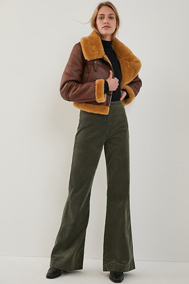 ASKK Ultra High-Rise Bootcut Corduroy Pants By ASKK in Green Size 25
