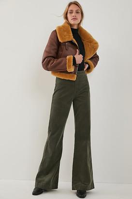 ASKK Ultra High-Rise Bootcut Corduroy Pants By ASKK in Green Size 26