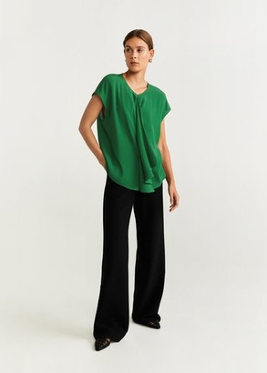 MANGO Draped detail blouse