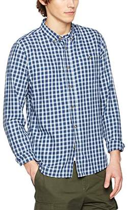 HYMN London Men's VAYNOR Regular Fit|#3 Checkered Button Down Long Sleeve Casual Shirts,Small