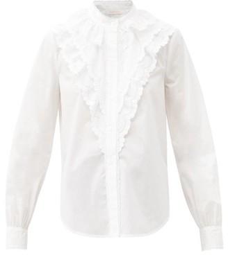 See by Chloe Ruffled Cotton-poplin Shirt - White