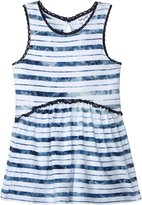 Splendid Indigo Tie Dye Stripe Swing Top - Blue - 4T