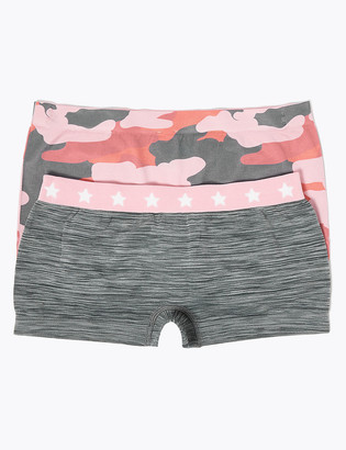 Marks and Spencer 2 Pack Seamfree Camouflage Print Shorts (6-16 Yrs)