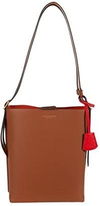 Tory Burch Perry Bucket Bag (Black) Handbags