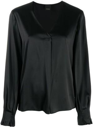 Pinko V-neck silk blouse