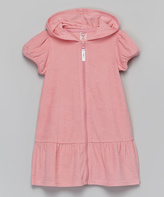 KensieGirl Coral Puff-Sleeve Hooded Cover-Up - Toddler & Girls