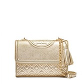 Tory Burch Fleming Metallic Small Convertible Shoulder Bag