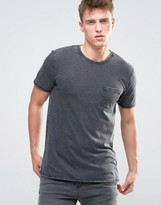 Esprit T-Shirt in Burnout Wash and Pocket