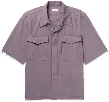 Dries Van Noten Camp-Collar Cotton-Twill Shirt
