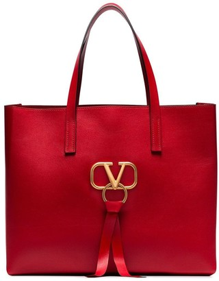 Valentino large VRING leather tote bag