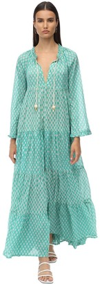 Yvonne S Cotton Voile Maxi Hippy Dress