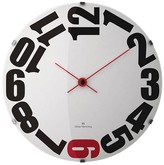 "Oliver Hemming Wall Clock with Bold Sideways Number Dial (20"")"