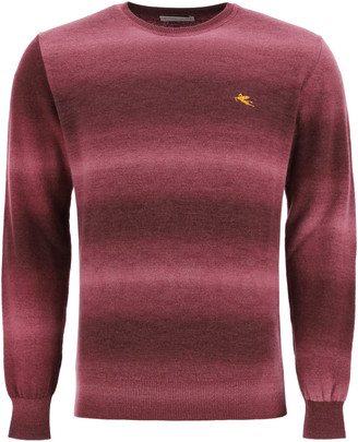 Etro Shaded Sweater With Logo Embroidery