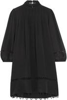 Apiece Apart La Sierra Pleated Silk Crepe De Chine Mini Dress - Black