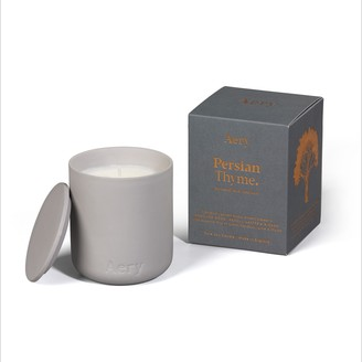 Aery - Light Grey Clay Pot Persian Thyme Candle with Lid - light grey - Light grey
