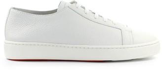 Santoni White Leather Sneaker