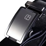 Teemzone Belt for Men Genuine Leather Rachet Belt Slide Buckle Belt