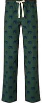John Lewis Elephant Print Pyjama Bottoms, Green